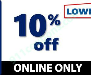Lowes 10% Off Coupon Promo – ONLINE ONLY – Must Use Same Day – INSTANT DELIVERY